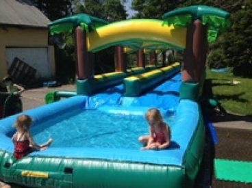 Hawaiian Slip and Slide - Double Lane w Pool